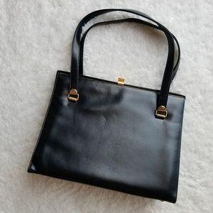 Coblentz Black Leather Squared Handbag